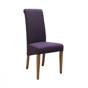 Fabric Oak Dining Chair, Mauve