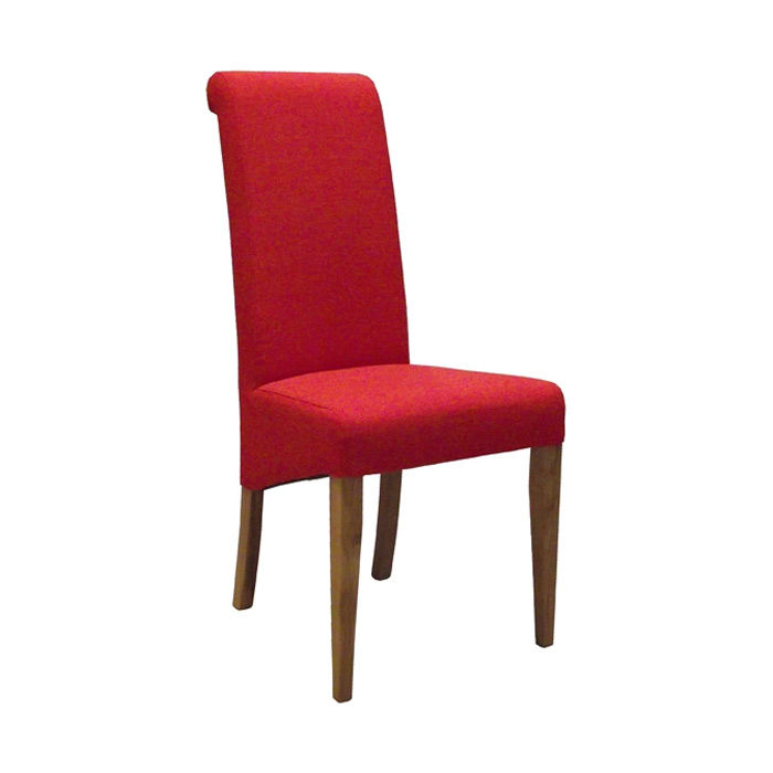 Fabric Oak Dining Chair Red Countryside Pine And Oak