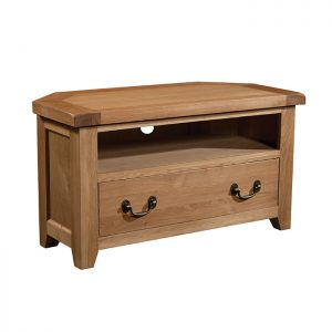 Somerset Oak - Corner TV Unit