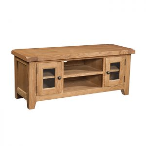 Somerset Oak - Large TV Unit