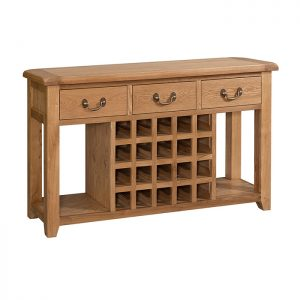 Open Sideboard with Wine Rack