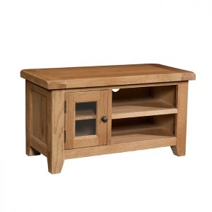 Somerset Oak - Small TV Unit
