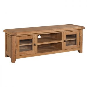 Oak Wide Screen TV Unit