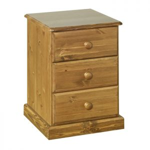Torridge Pine - 3 Drawer Bedside Cabinet