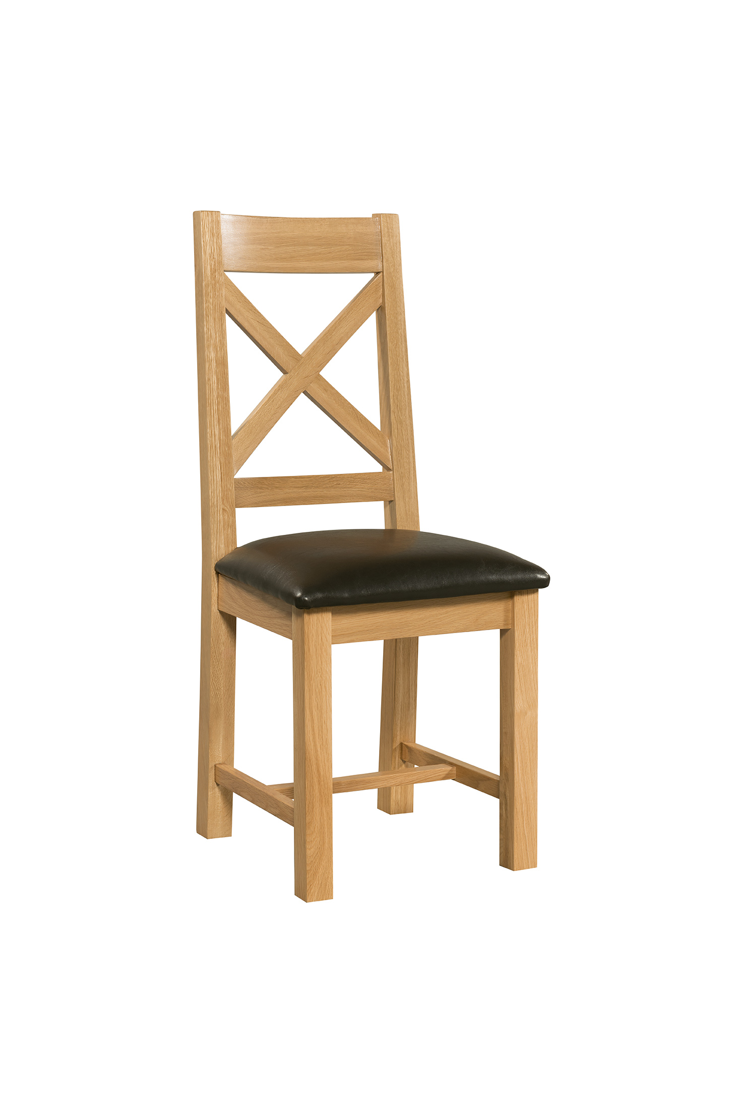 cross back dining chair countryside pine and oak. Black Bedroom Furniture Sets. Home Design Ideas