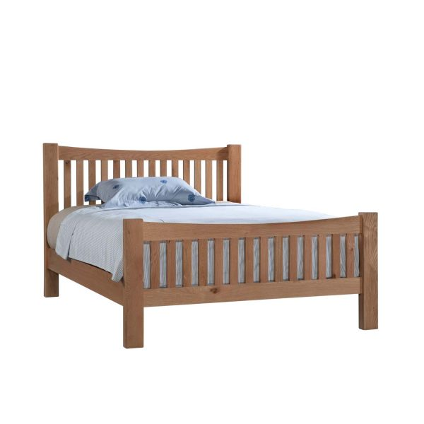 Slatted High Footend Bed