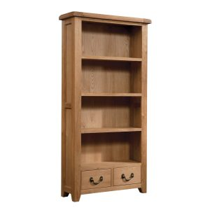 Large Bookcase With Two/Drawers