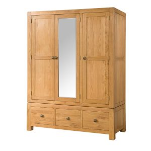 TRIPLE WARDROBE WITH THREE DRAWERS
