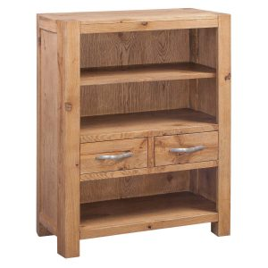 Como Oak Low Bookcase