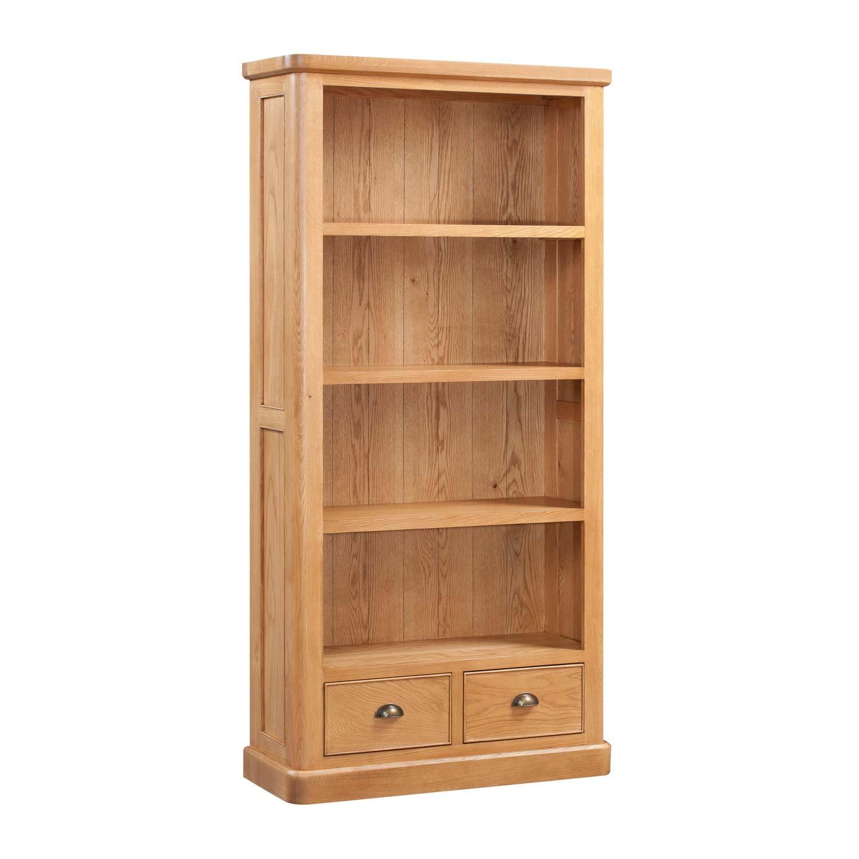 Evesham Oak Large Book Case Countryside Pine And Oak