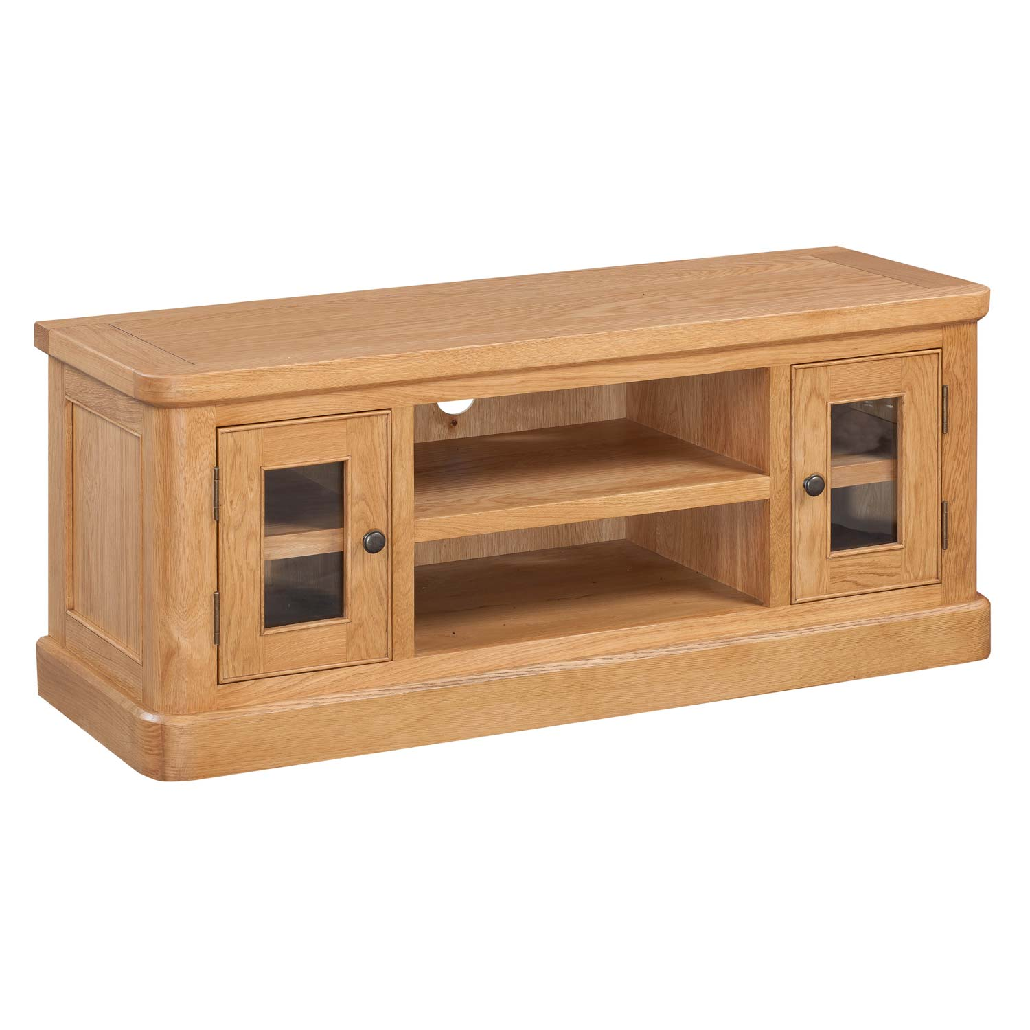 evesham oak large tv unit countryside pine and oak. Black Bedroom Furniture Sets. Home Design Ideas