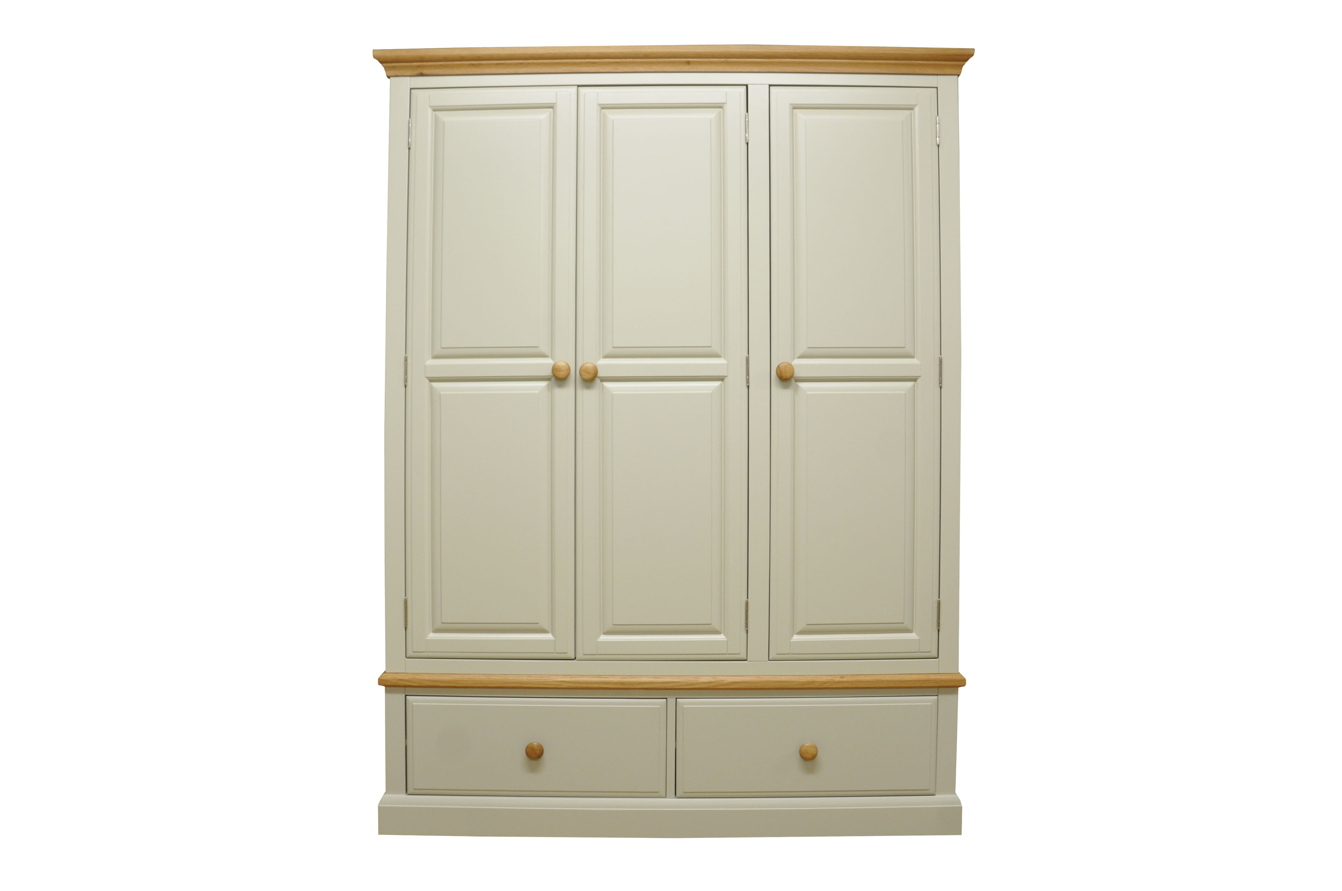 3 Door 2 Drawer Wardrobe Countryside Pine And Oak