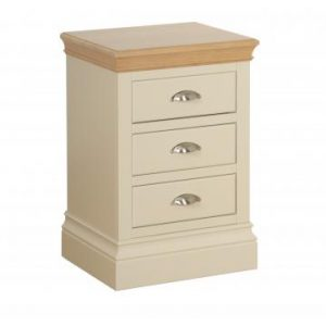 LB30 Lundy 3 Drawer Bedside