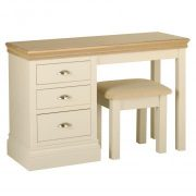 LD 25 with DS 10 Lundy Single Pedestal Dressing Table with Dressing Table Stool