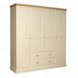 LW90 Lundy Quad Wardrobe with Two Drawers