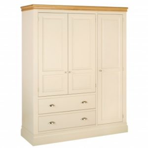 LW47 Lundy Triple Wardrobe with drawers