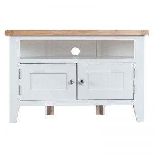 Corner TV Unit - White