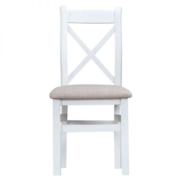 CROSS BACK CHAIR WITH FABRIC SEAT
