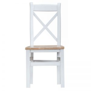 CROSS BACK CHAIR WITH WOODEN SEAT