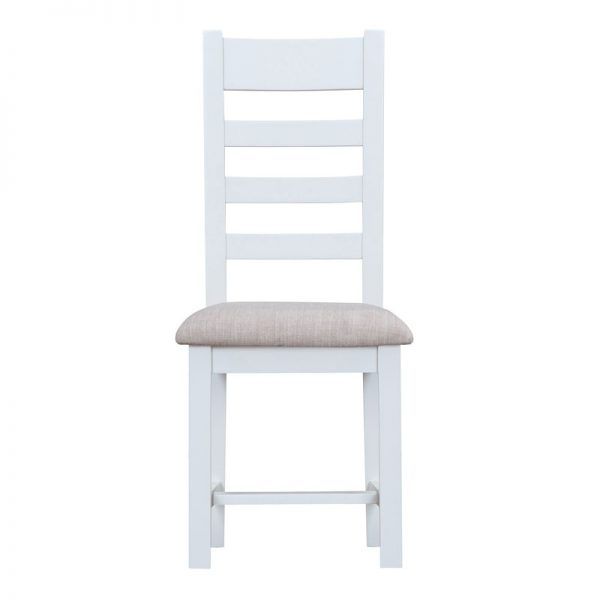 LADDER BACK CHAIR WITH FABRIC SEAT