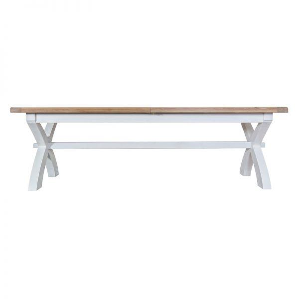 Large Cross Leg Extending Table