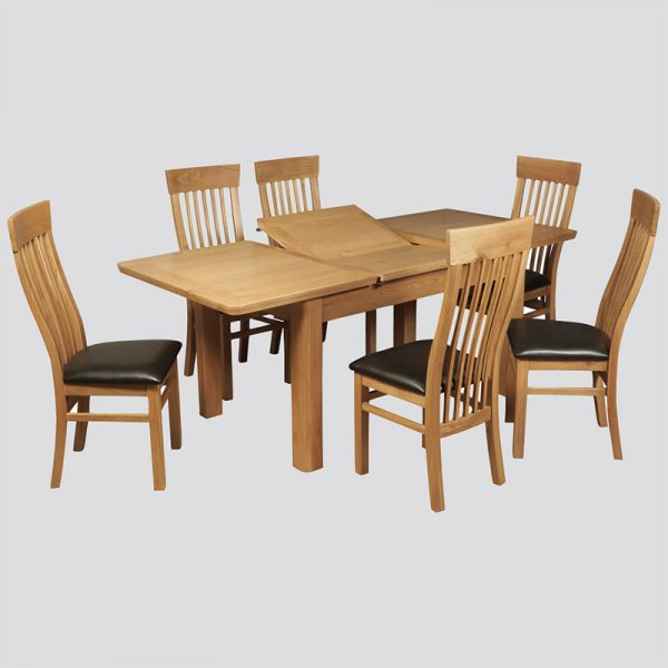 Treviso Oak 140cm Extension Dining Set